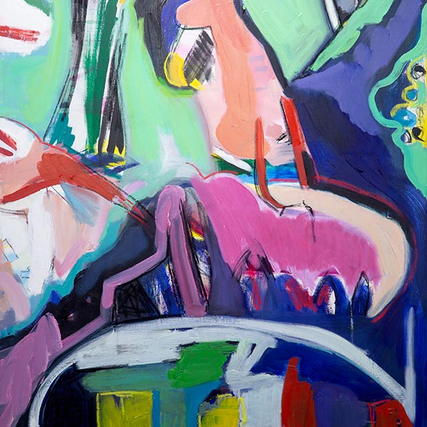 thumbnail link showing a detail of a colorful abstract painting
