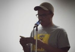 D.J. Gathers reading at Poetry 4 the People