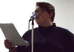 Kile McVey reading at Poetry 4 the People