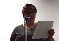 Mandy reading at the Poetry 4 the People