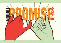 Image of a pinky promise for the four year tuition promise