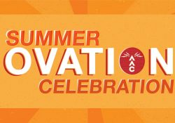Orange image with Sumer Ovation Celebration in text